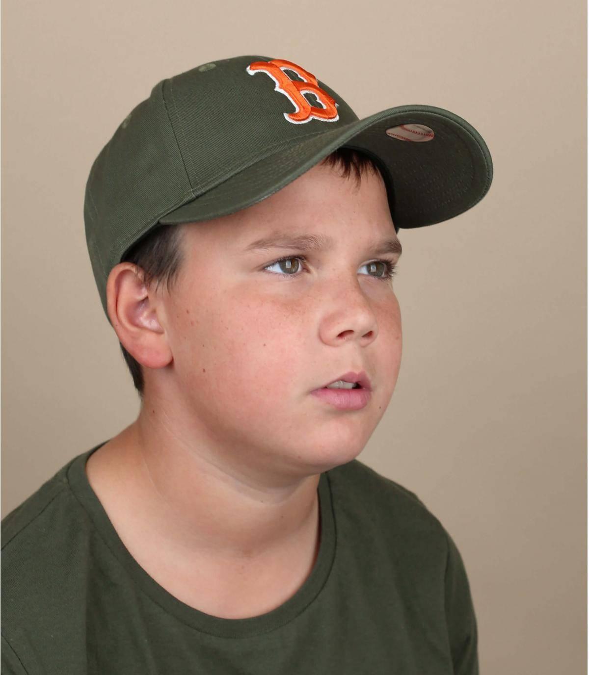 cappellino bambino B verde