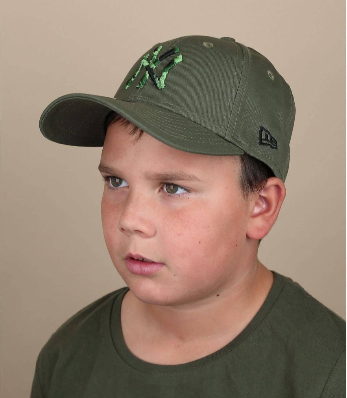 cappellino NY bambino verde