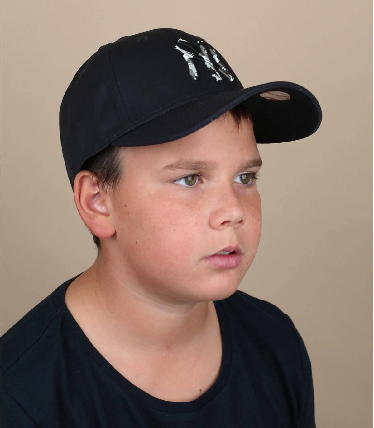 cappellino NY bambino blu