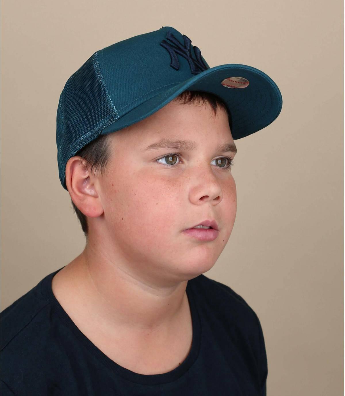 trucker bambino blu