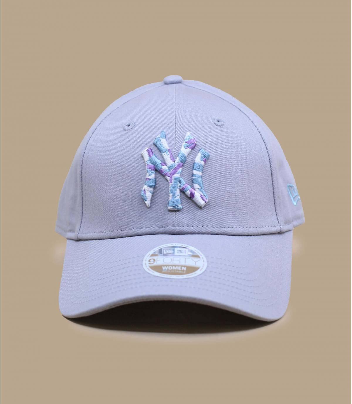 cappellino NY donna grigio