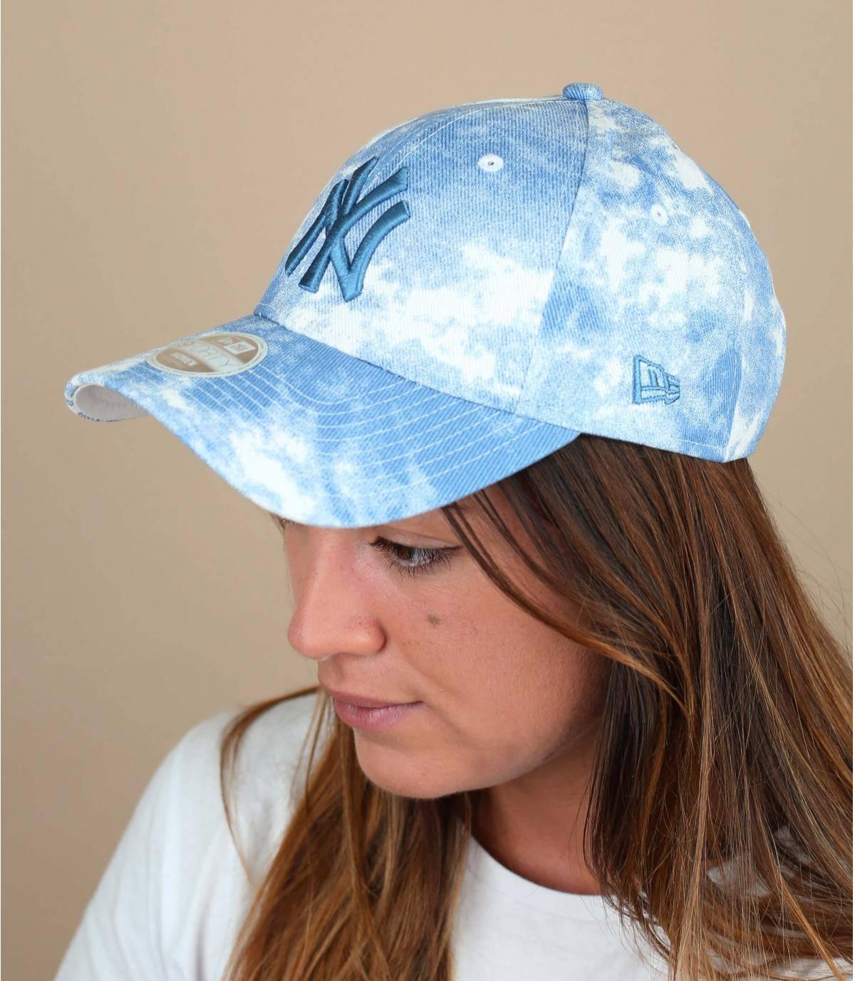 cappellino NY donna blu