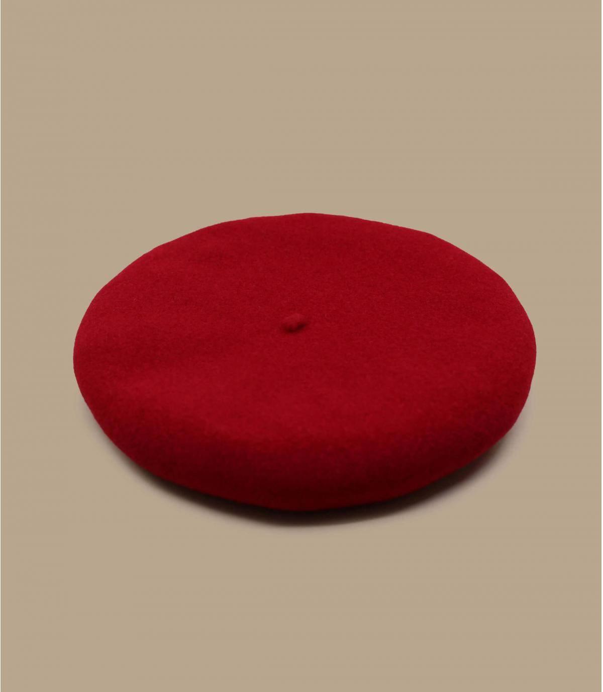 berretto lana rosso