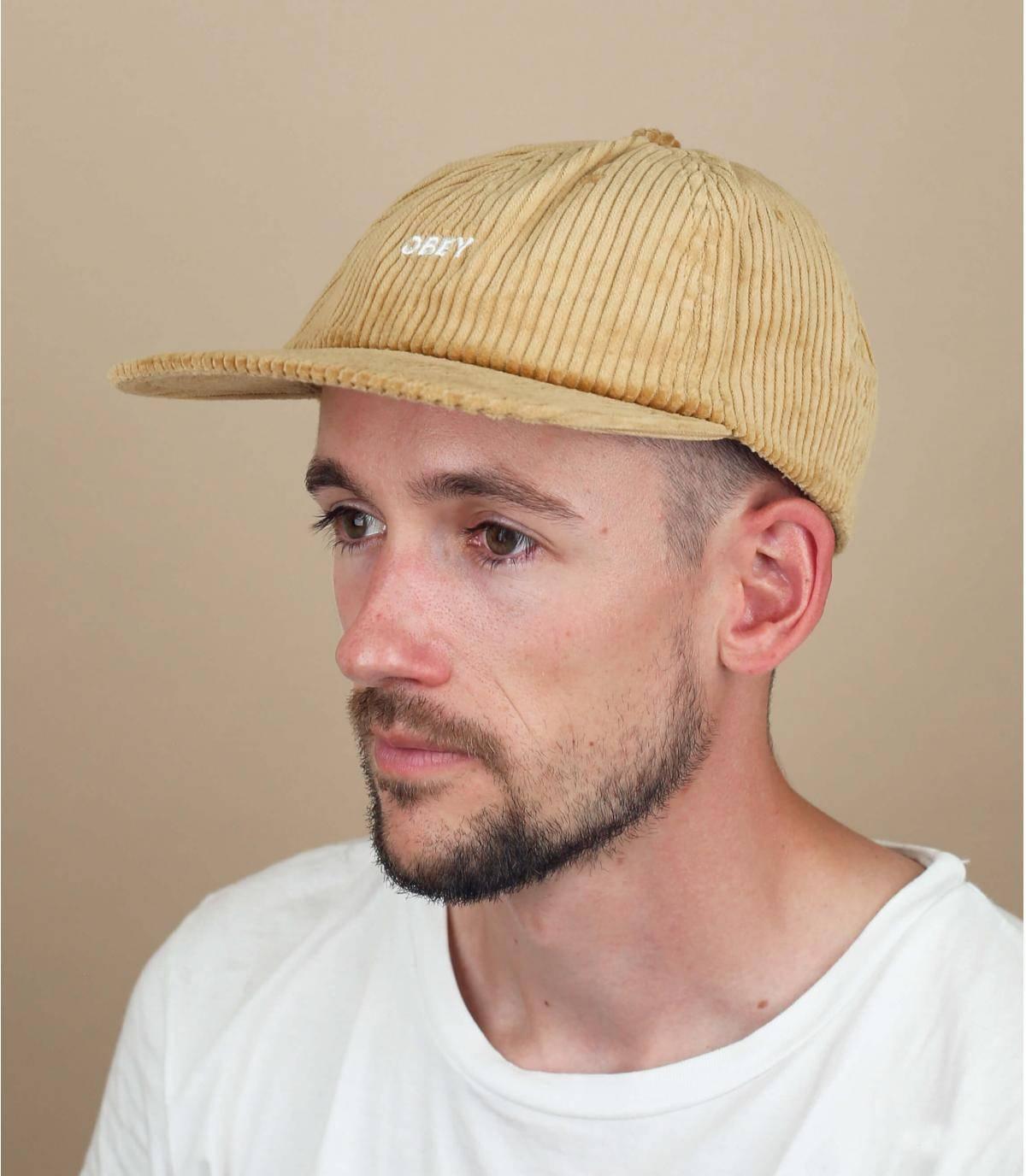 cappellino Obey velluto