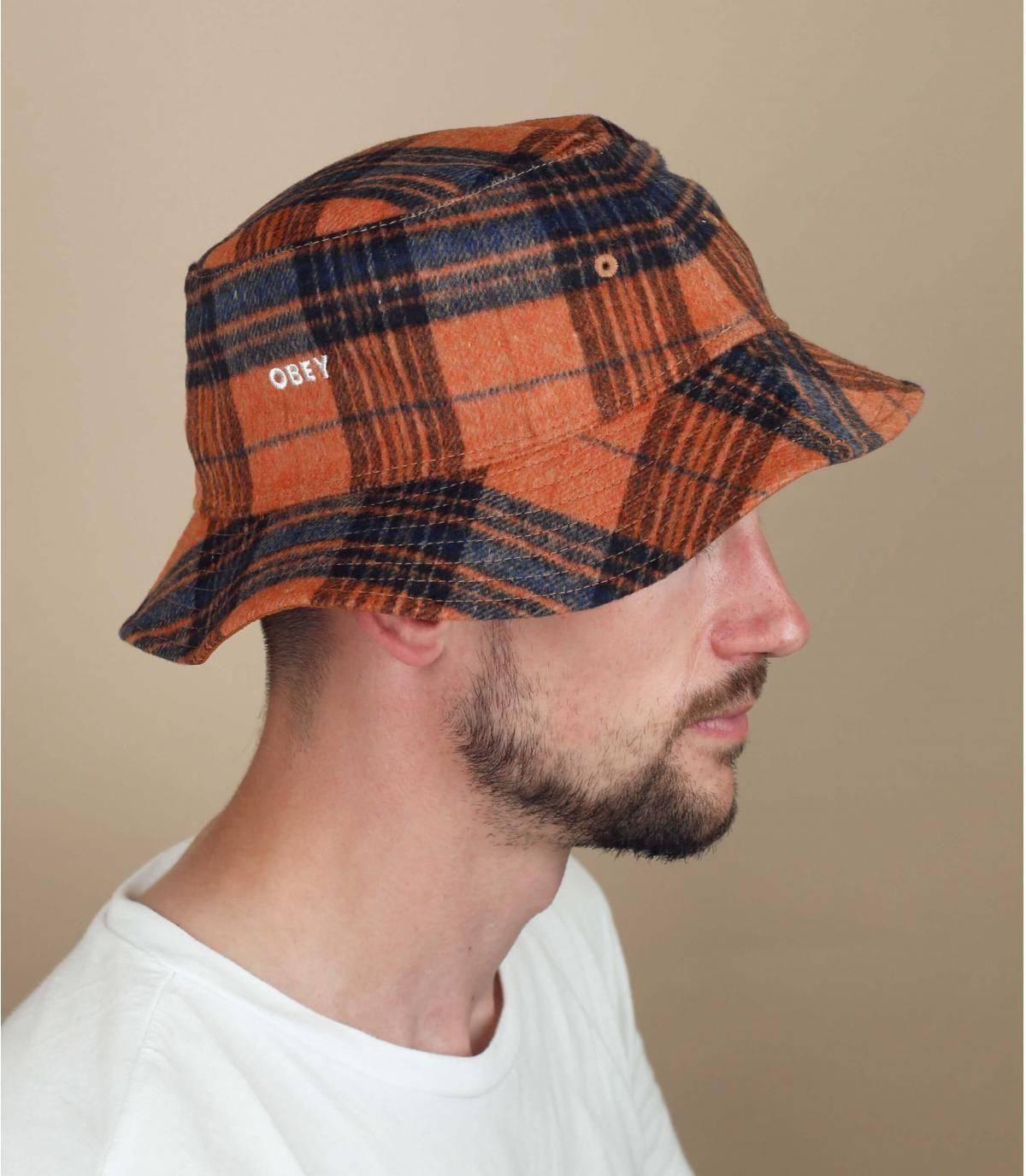 cappello da pescatore reversibile Obey