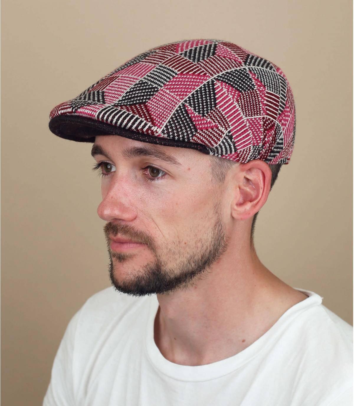 berretto Kangol stampato rosa