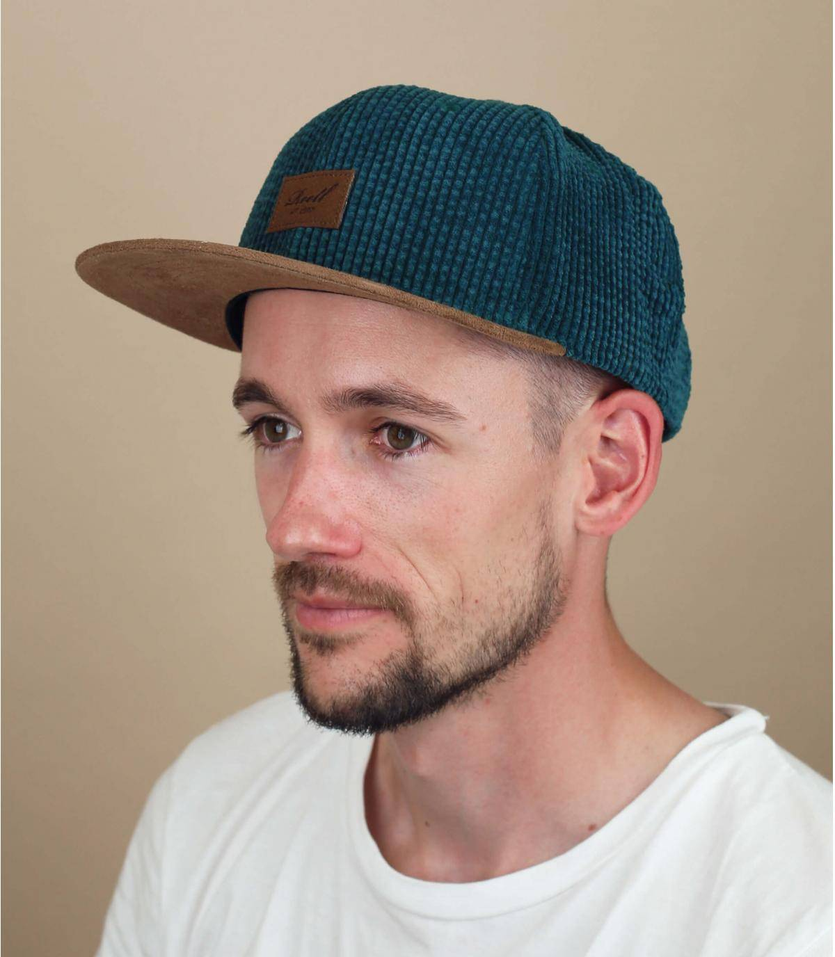 cappellino Reell velluto verde