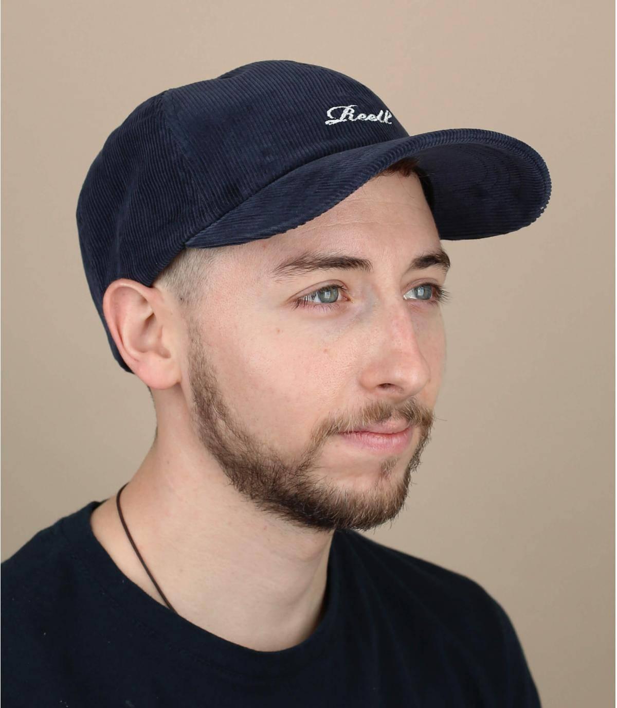cappellino velluto blu Reell