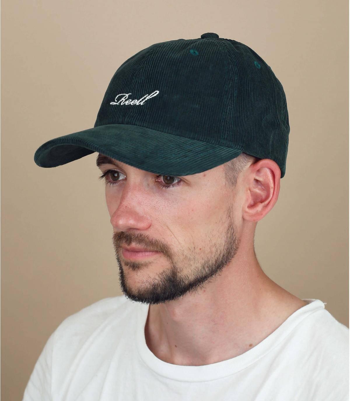 cappellino velluto verde Reell