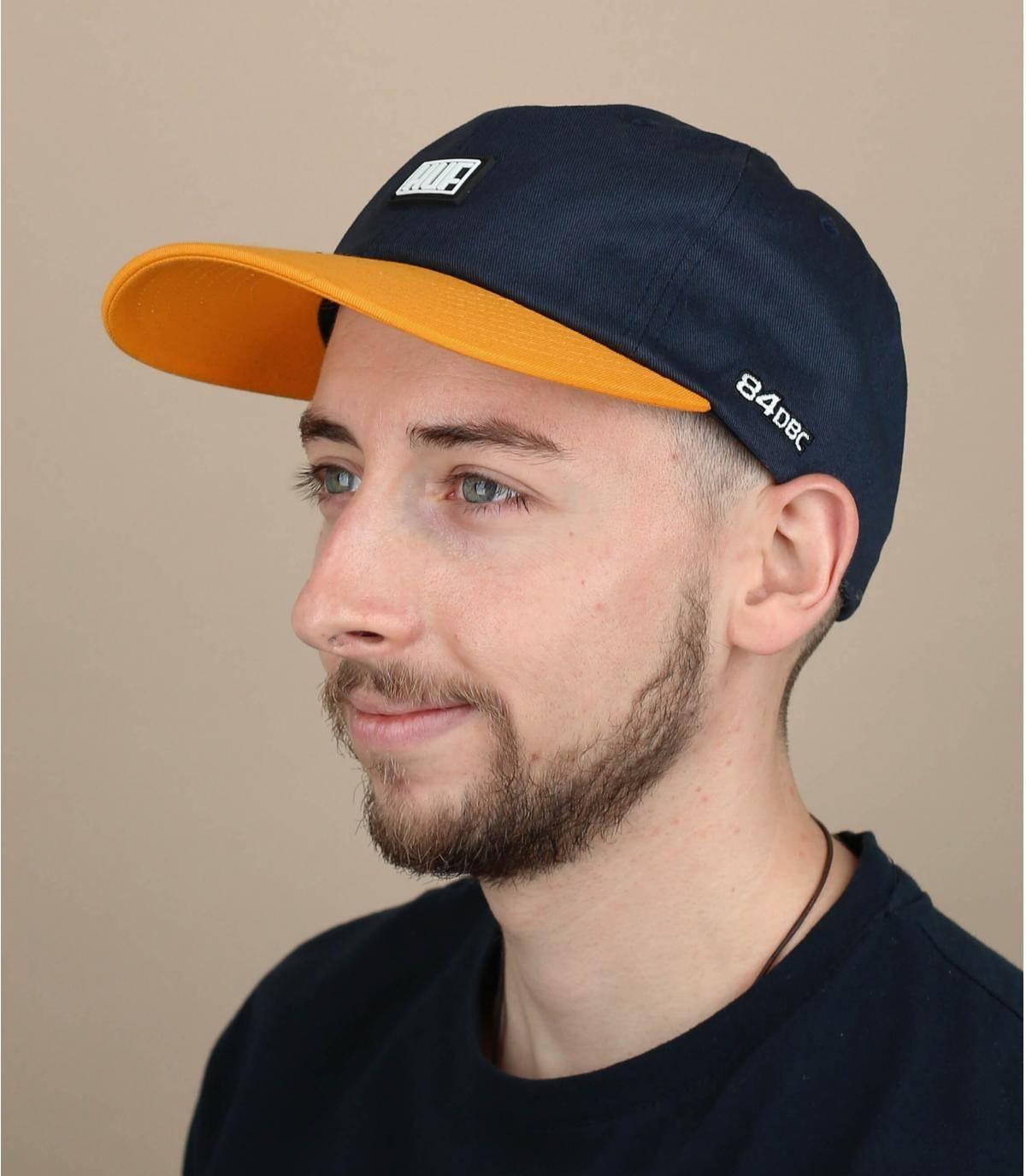 cappellino Huf blu giallo