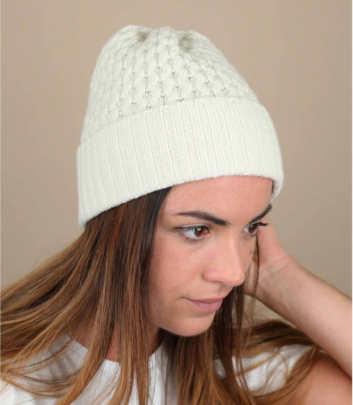 berretto lana risvolto