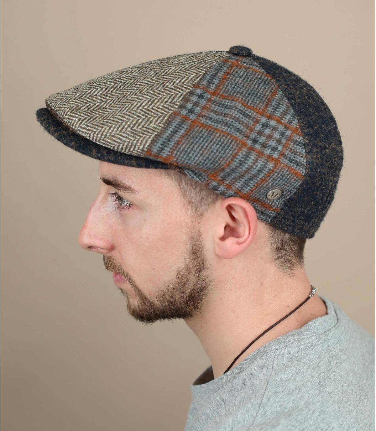 berretto patchwork lana