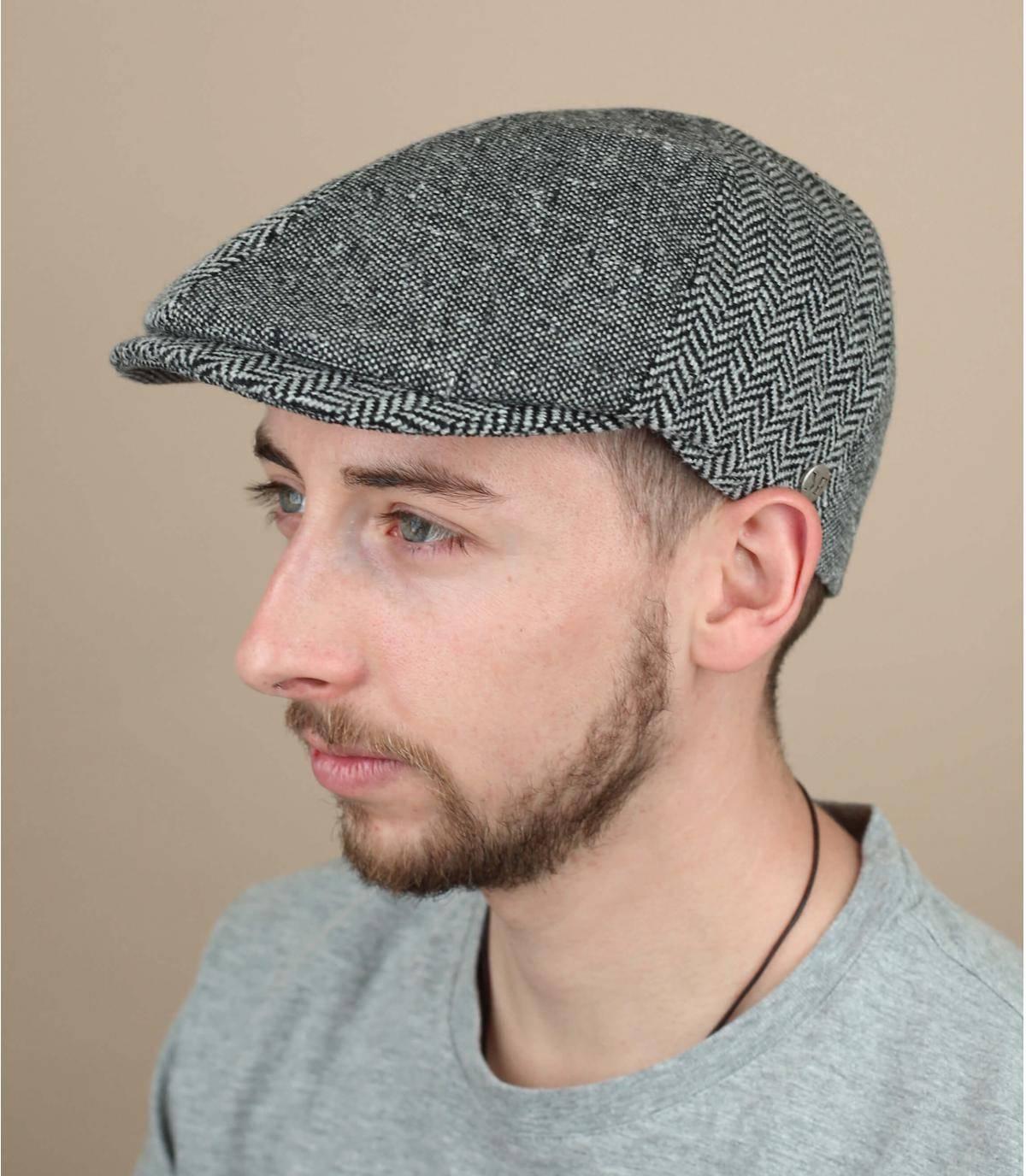 berretto grigio lana seta
