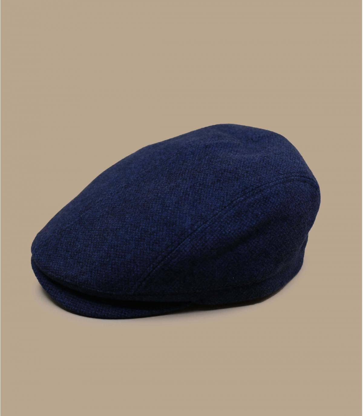 berretto blu lana