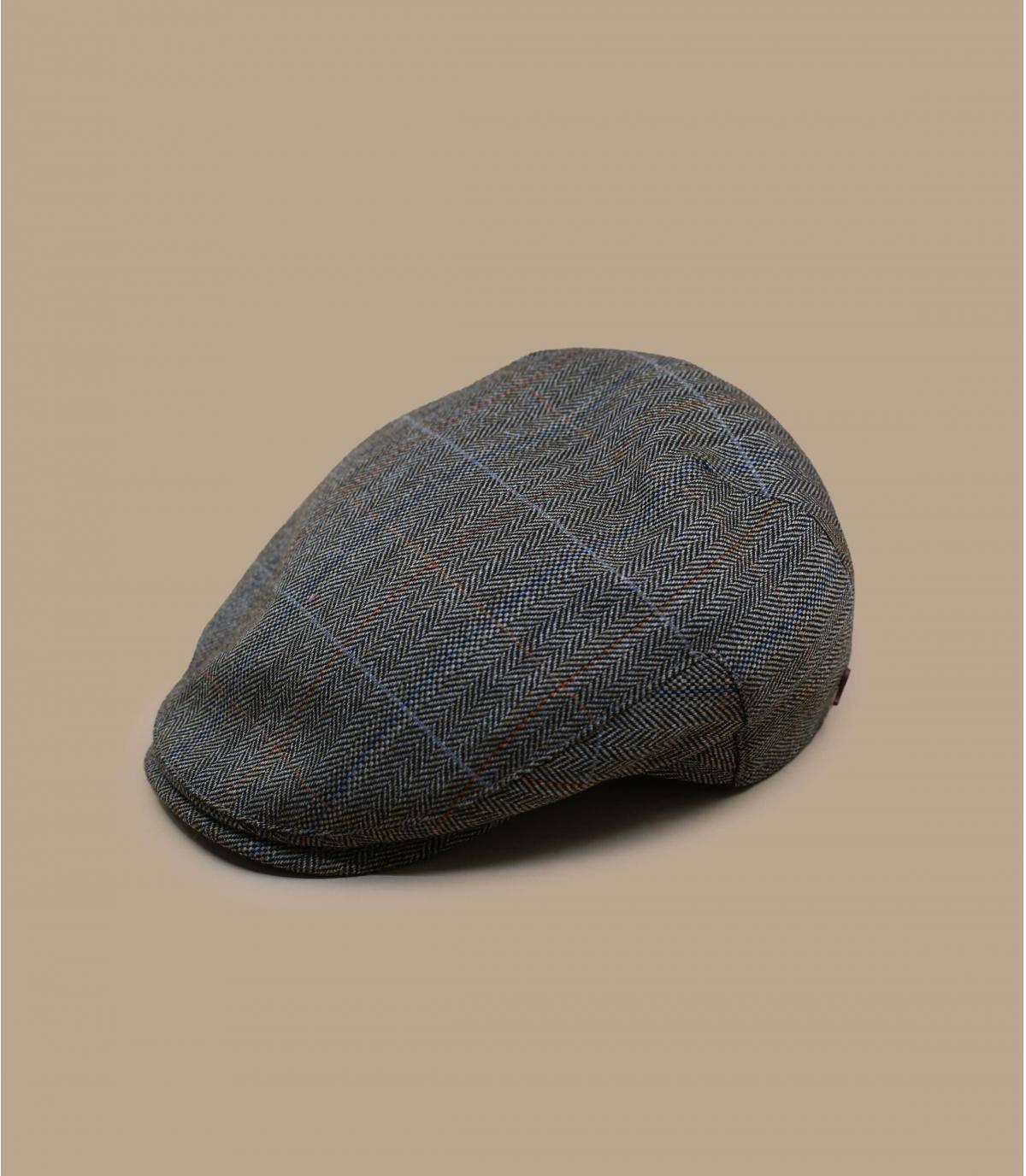 berretto lana a spina di pesce