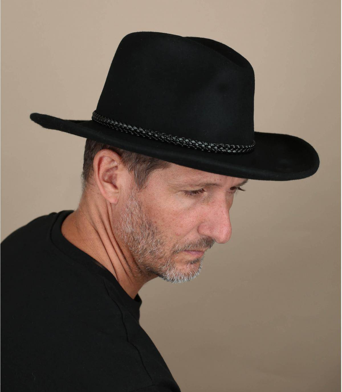 cappello cow-boy nero