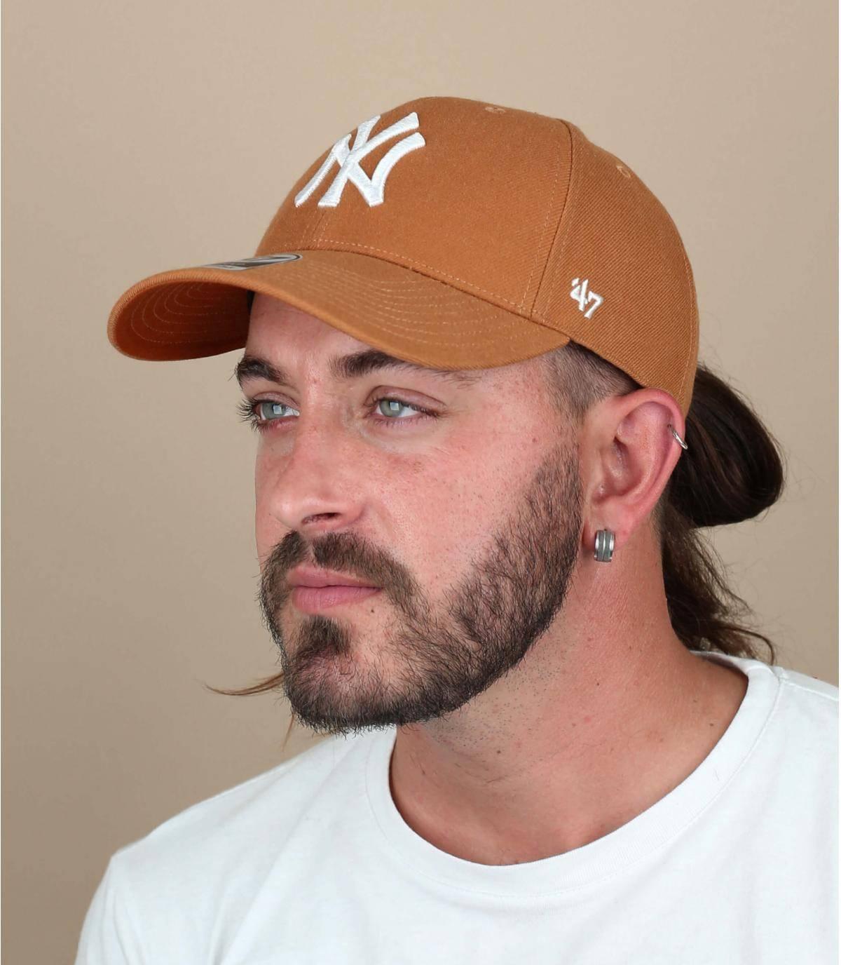 cappellino NY arancione