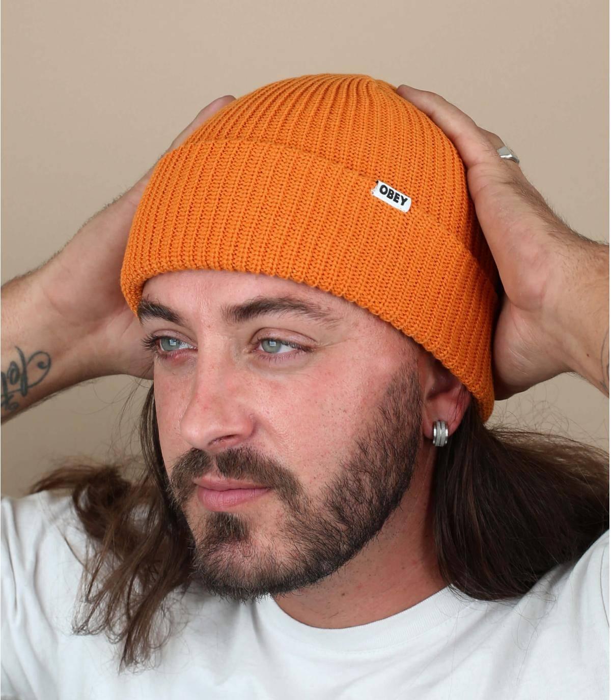 berretto docker arancio