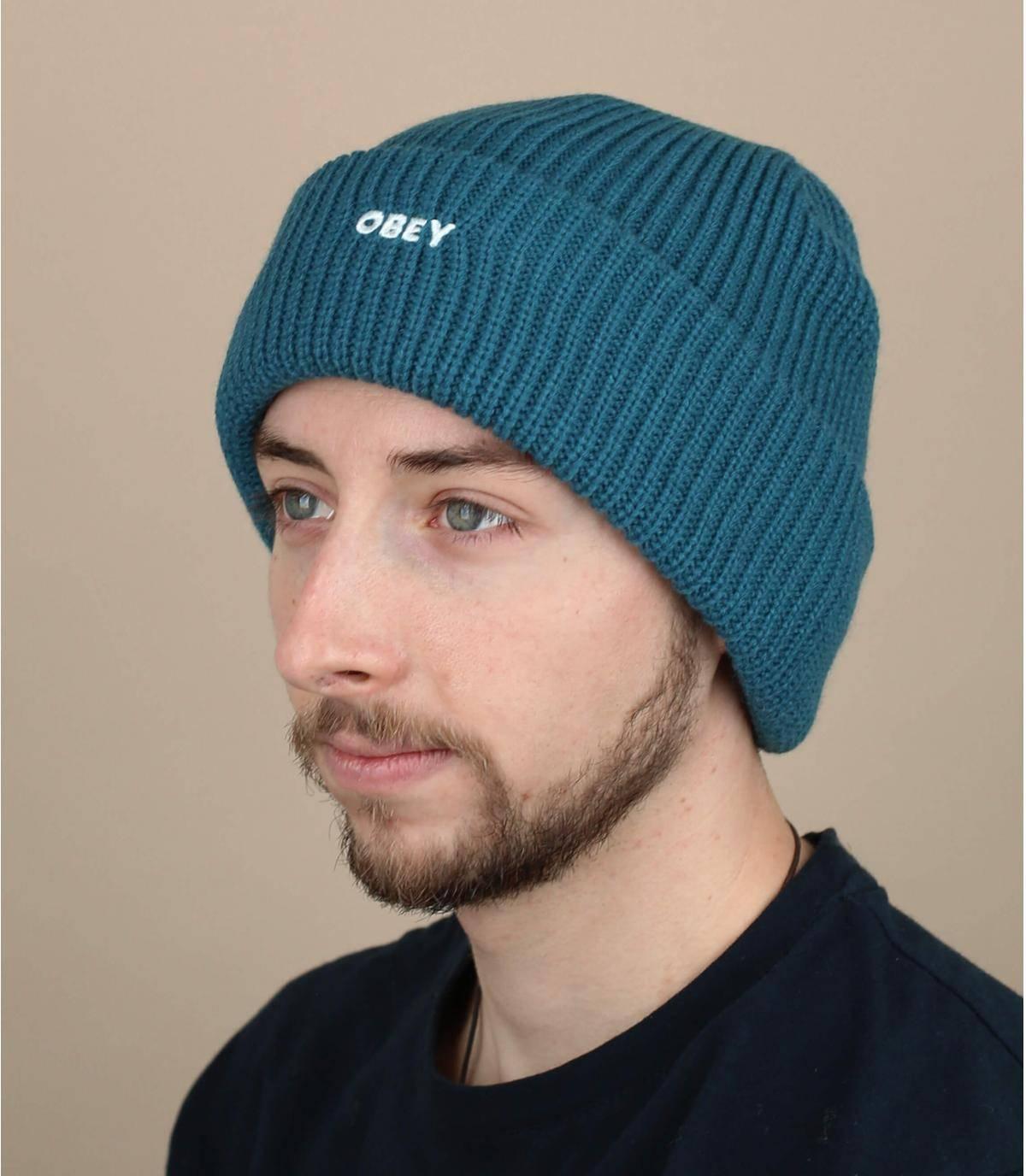 berretto Obey blu