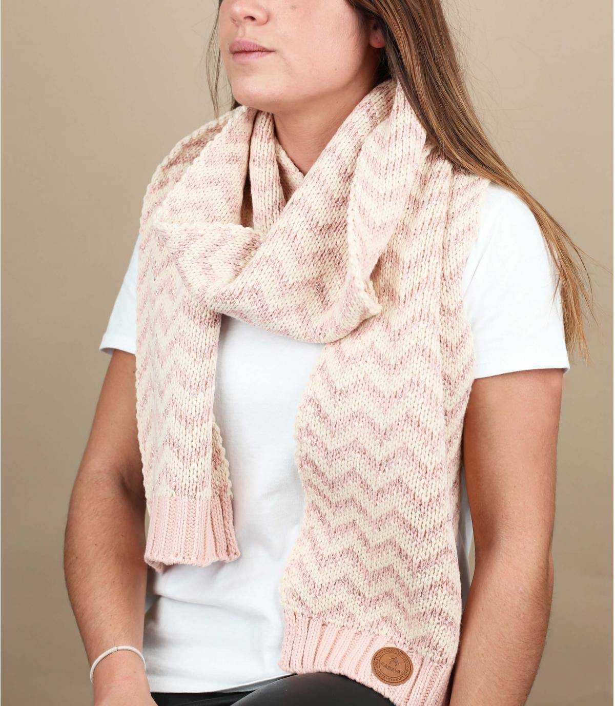 sciarpa rosa lurex