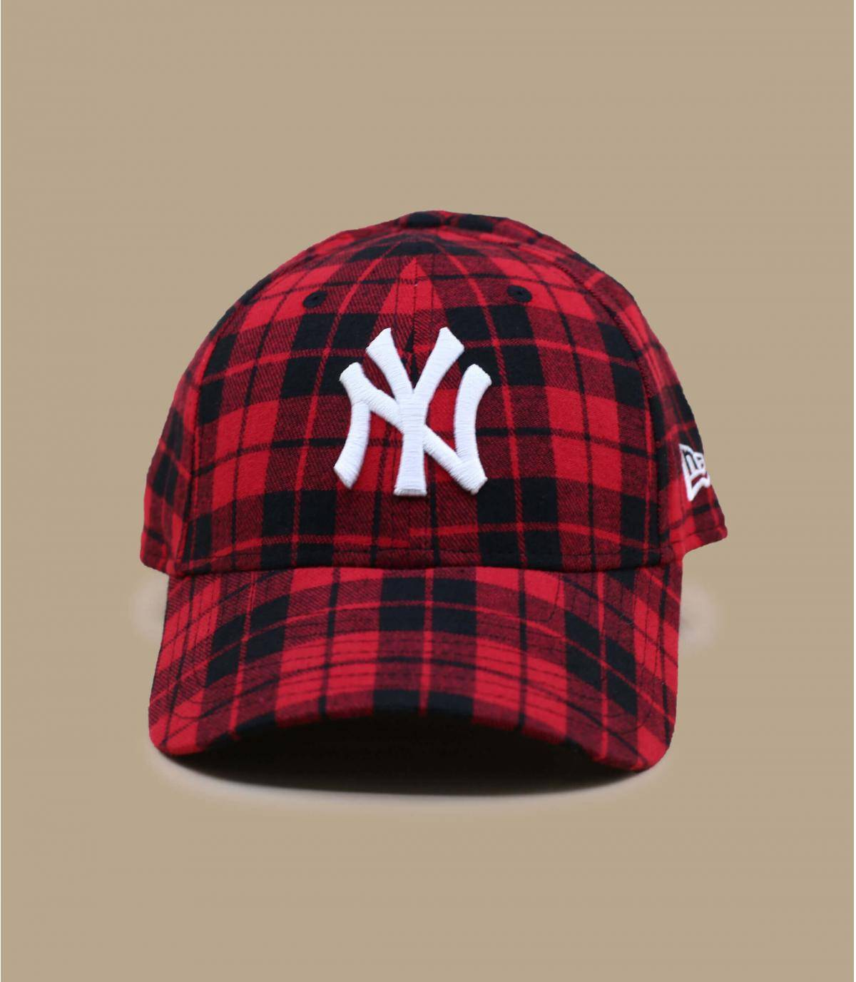 cappellino NY a quadri