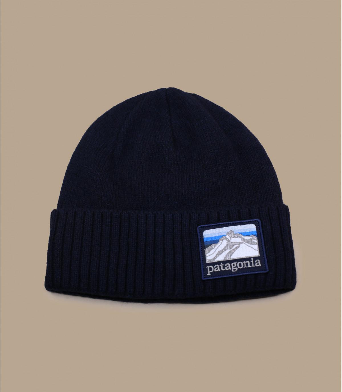 Beanie Patagonia lana blu