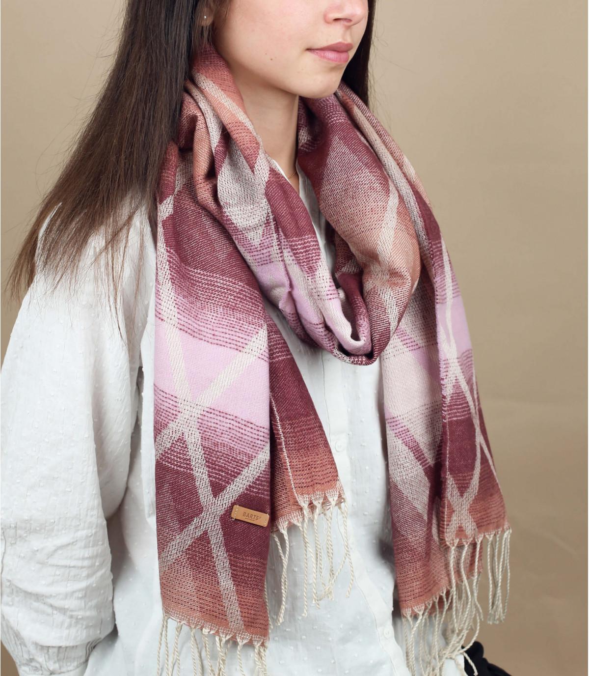 frange di sciarpa bordeaux