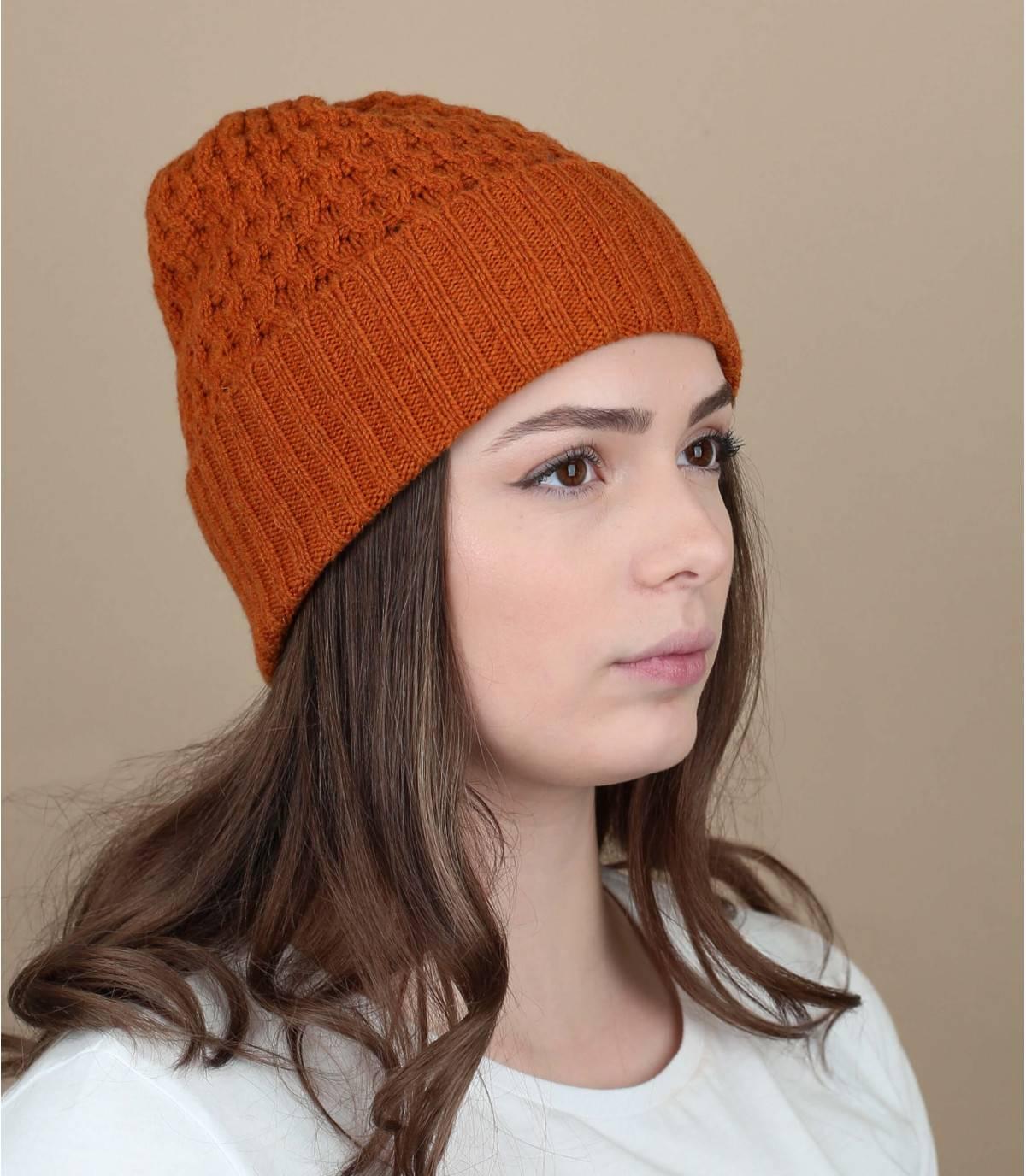berretto lana arancione