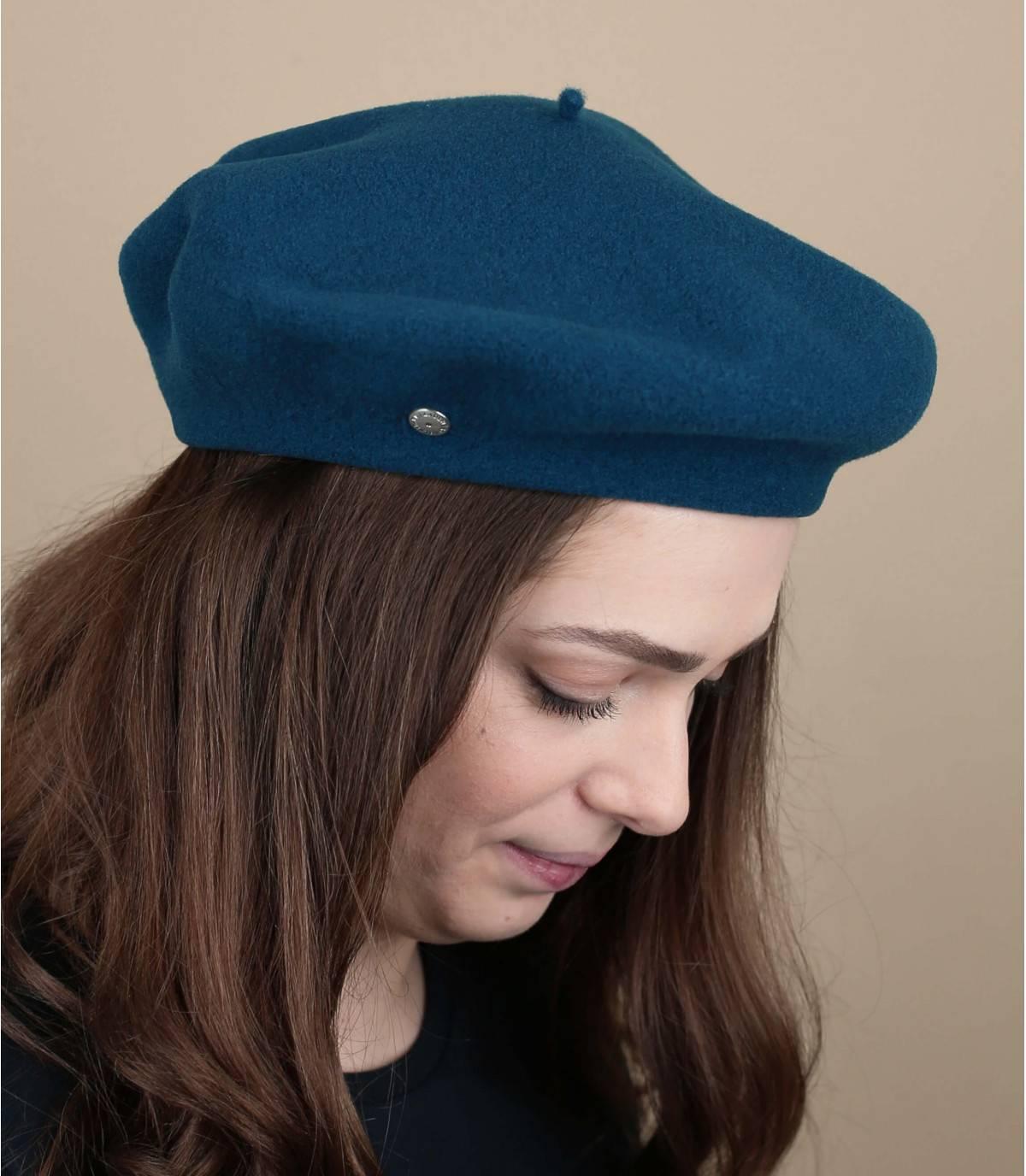 berretto lana blu