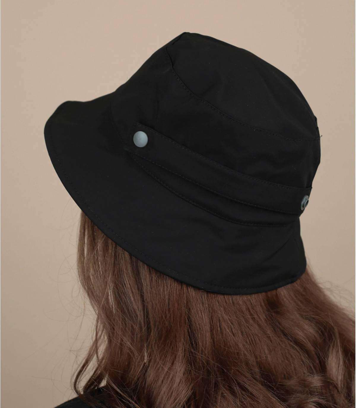 cappello da pescatore idrorepellente nero