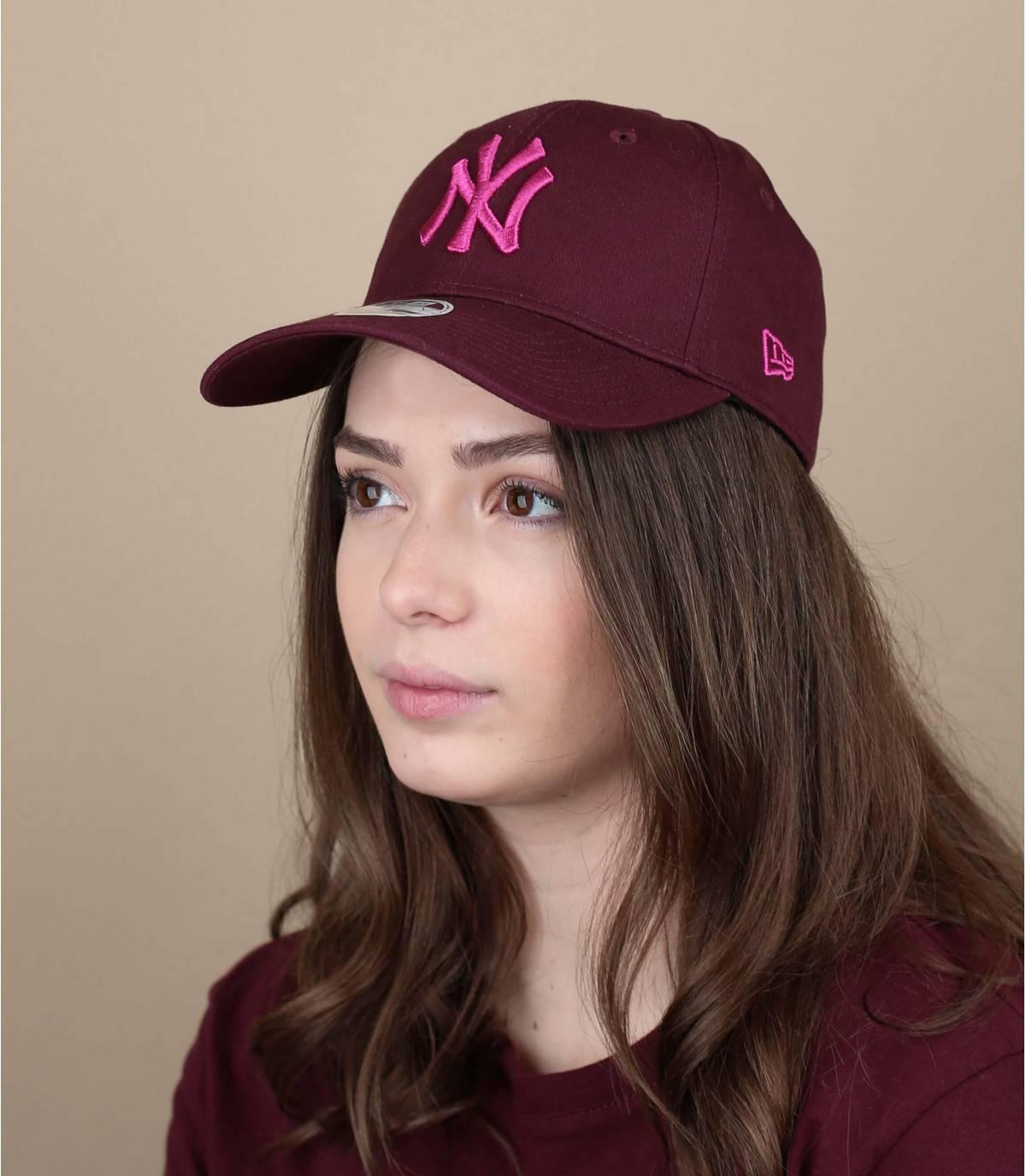 cappellino femme bordeaux