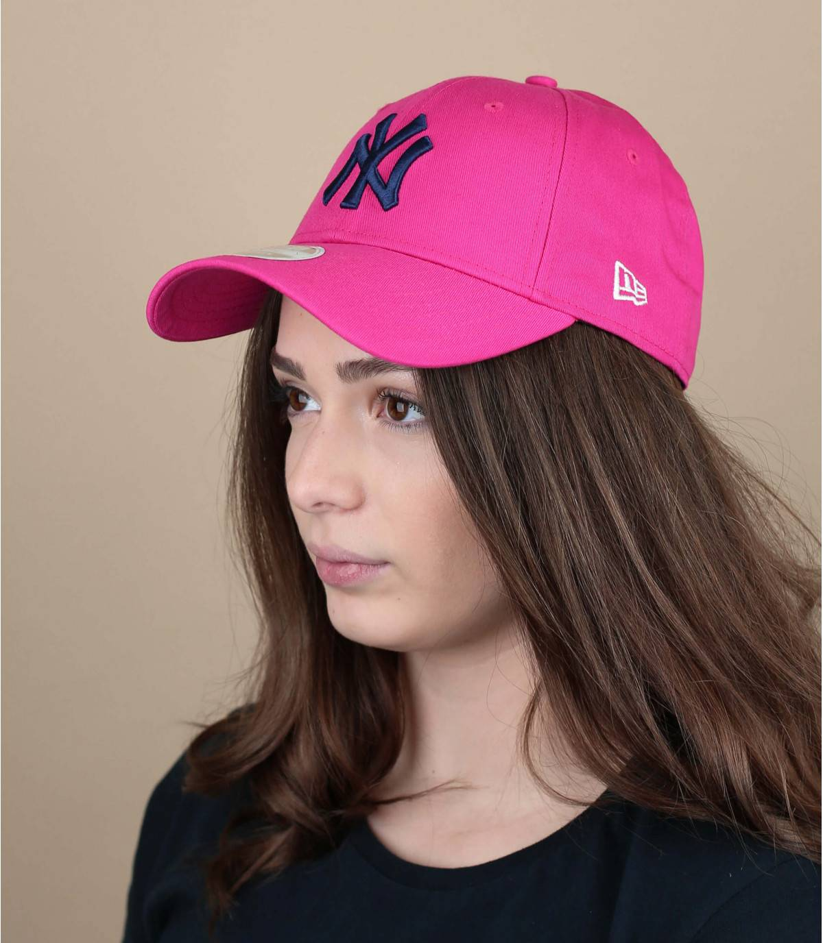 cappellino NY donna rosa