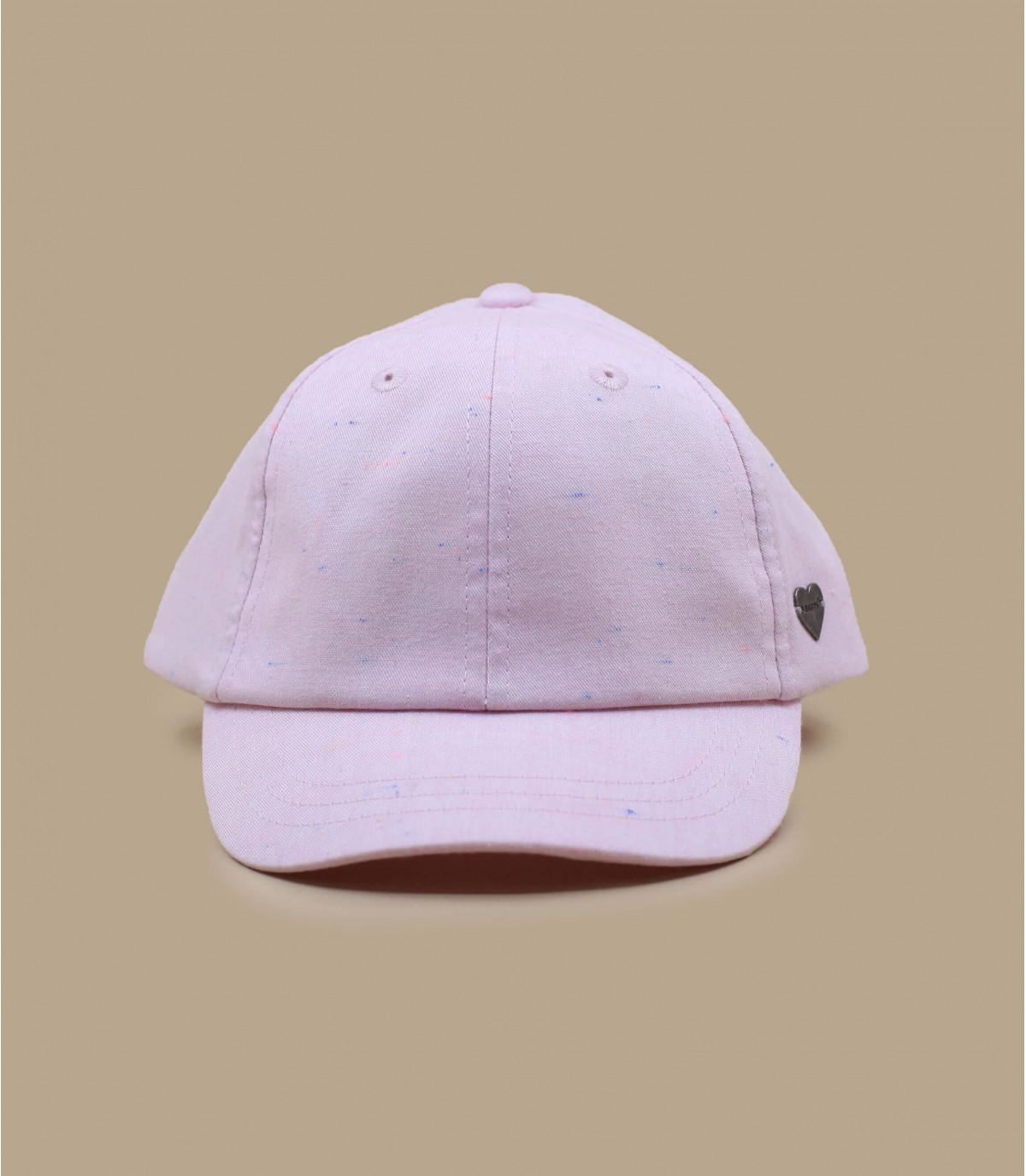 berretto da bambino con fiocco rosa