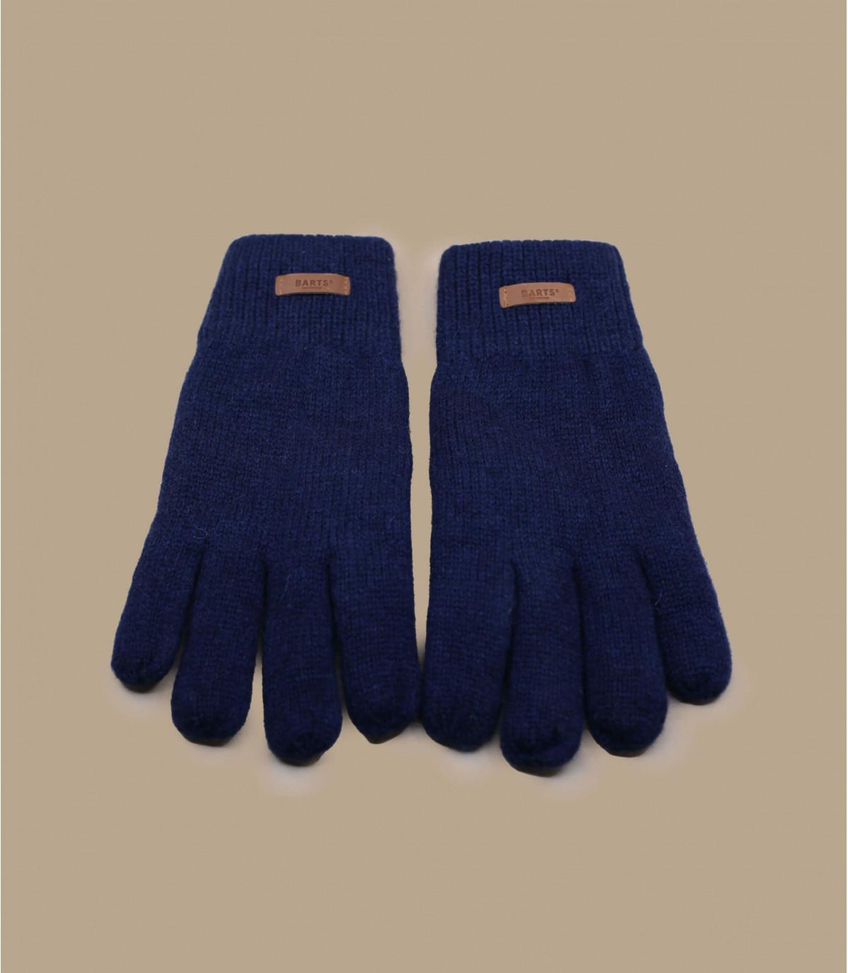 guanti di lana Navy