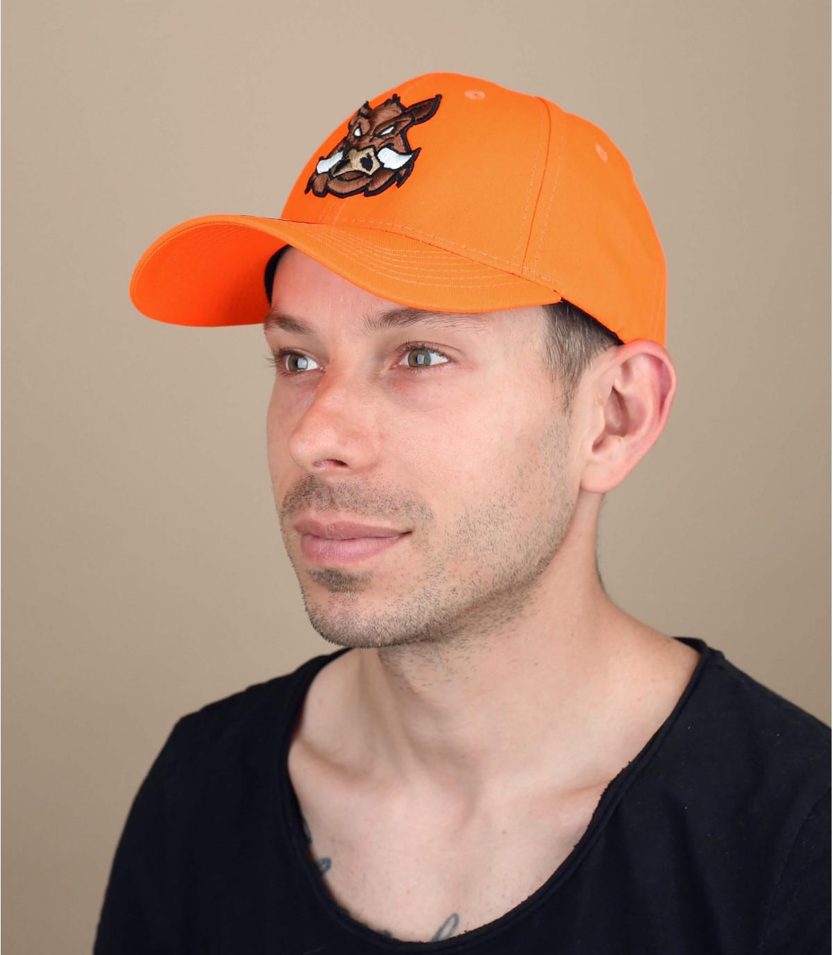 cappello da caccia di cinghiale arancione