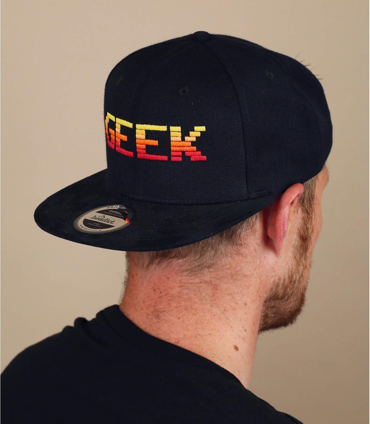 snapback Geek nero