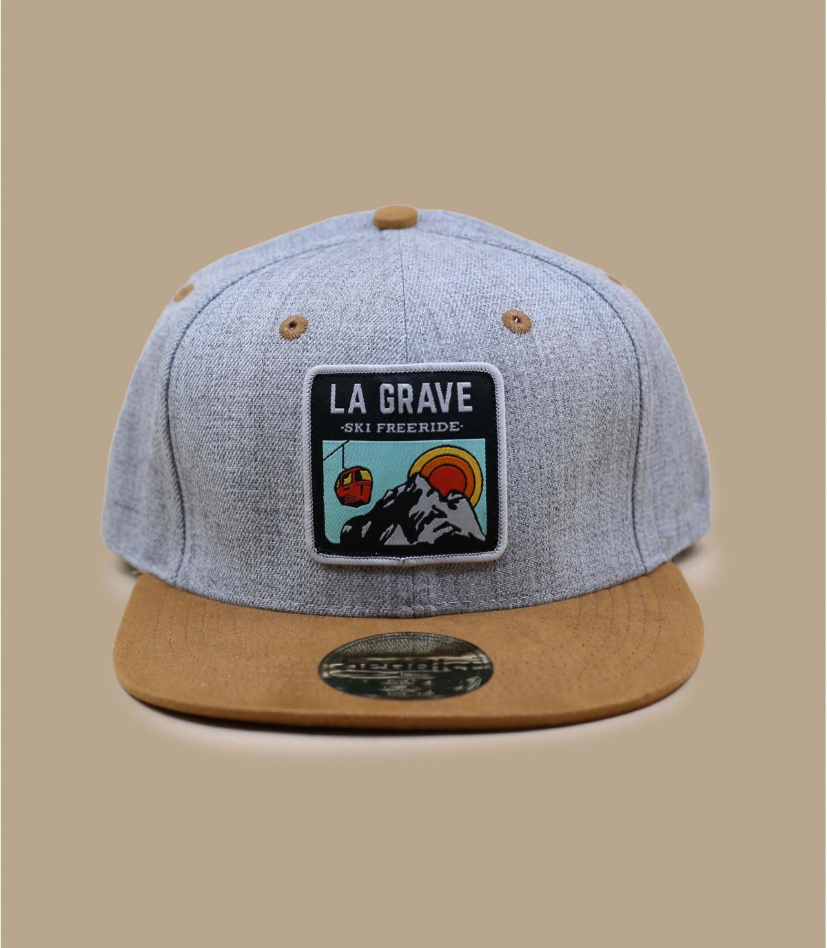 Dettagli Snapback La Grave grey suede - image 2