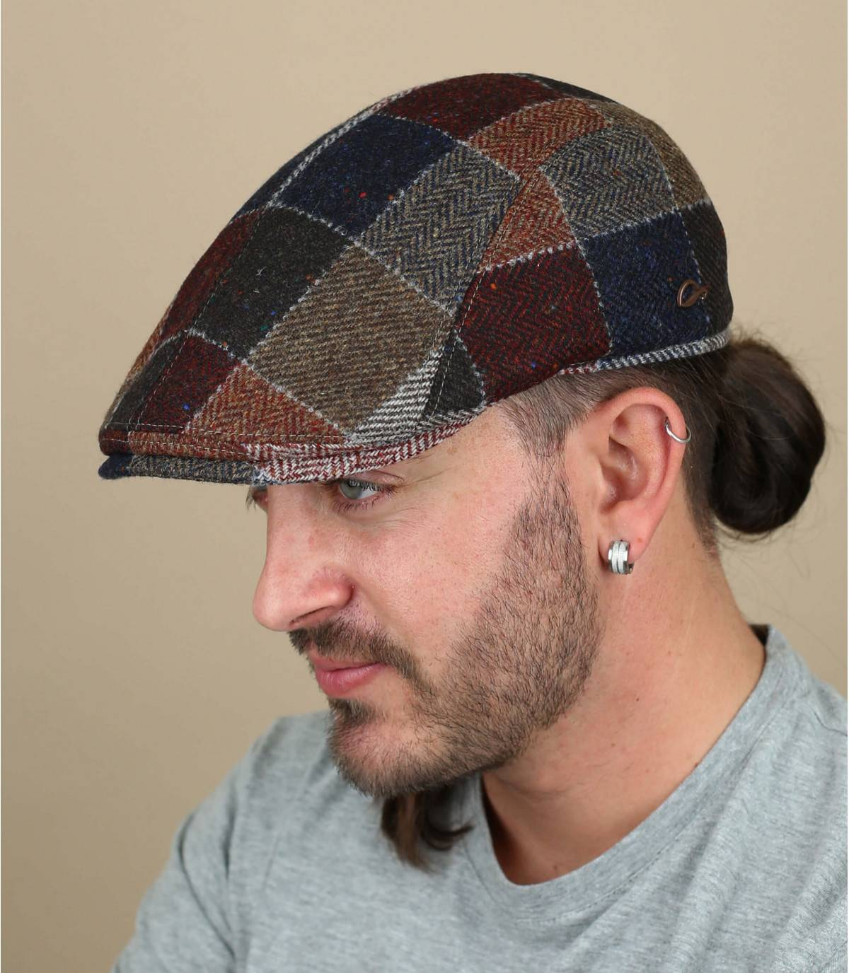 berretto lana patchwork