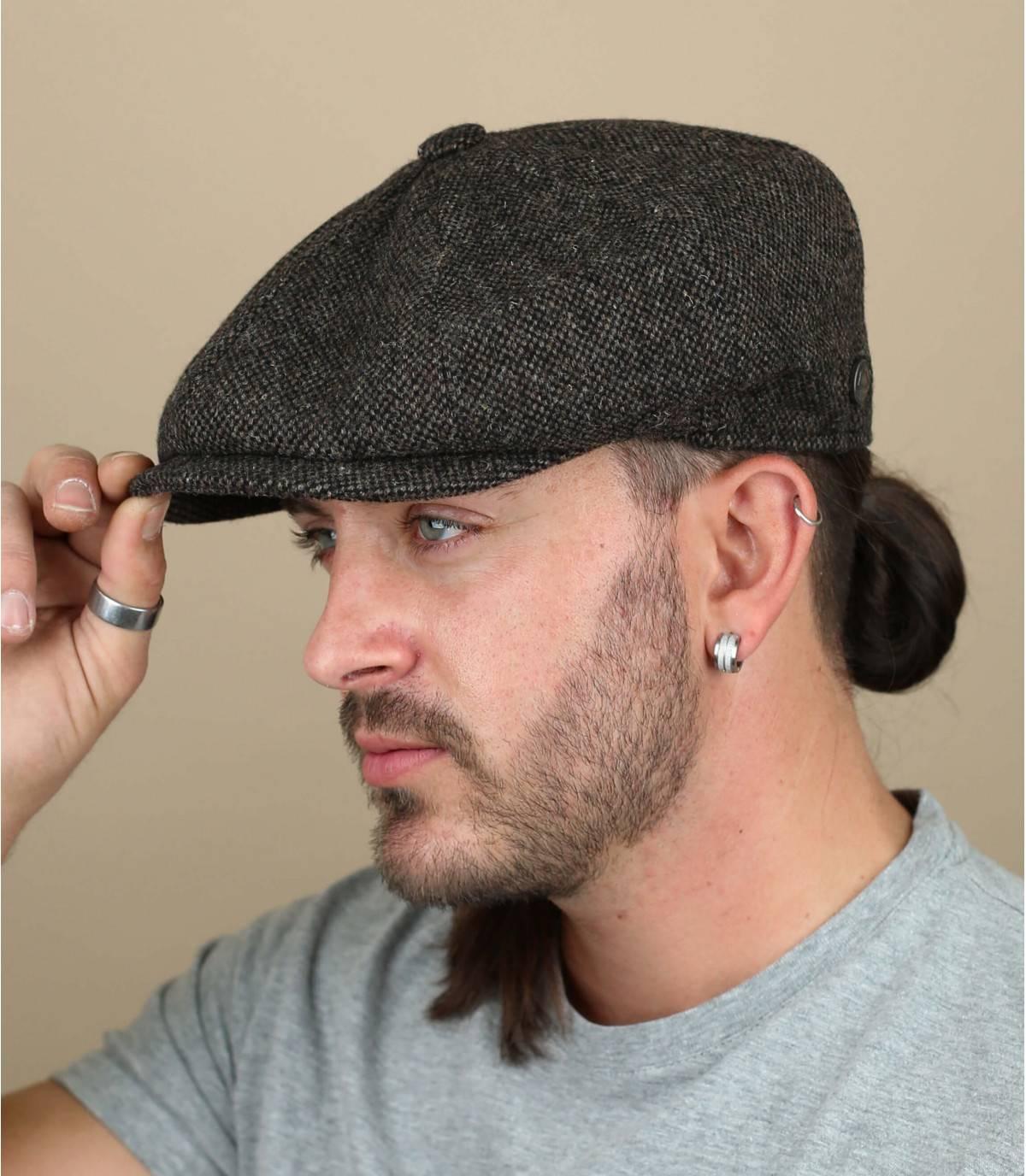 berretto lana marrone