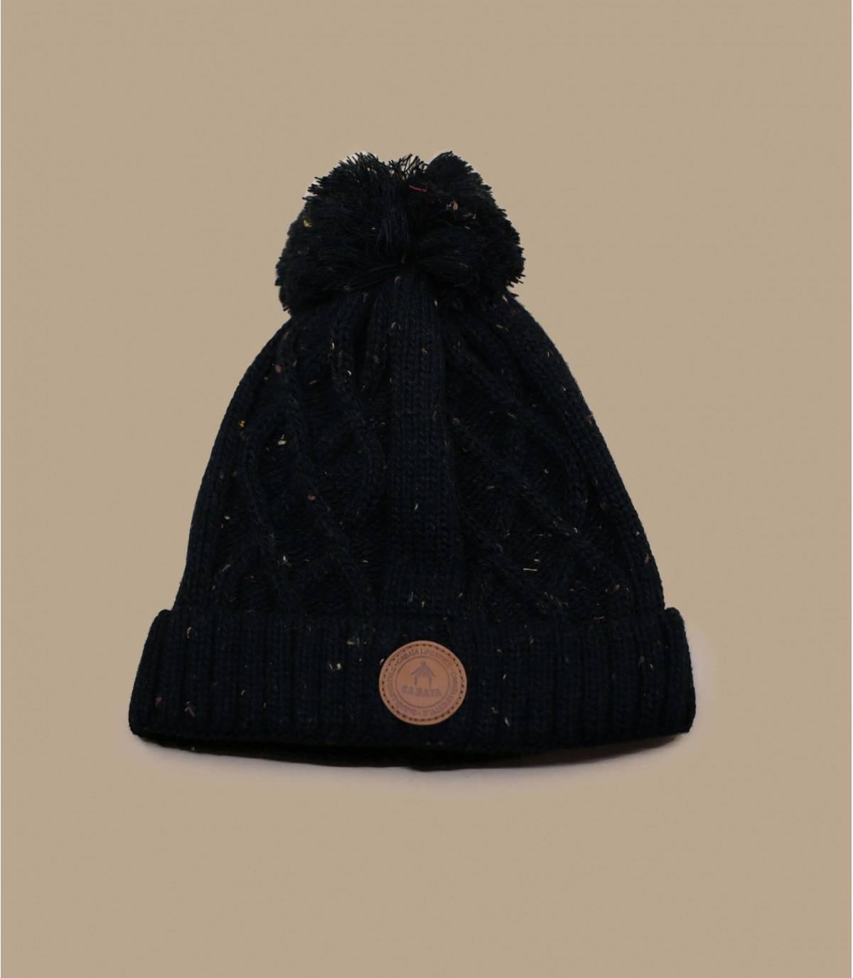 Cappello Cabaia nero con pompon