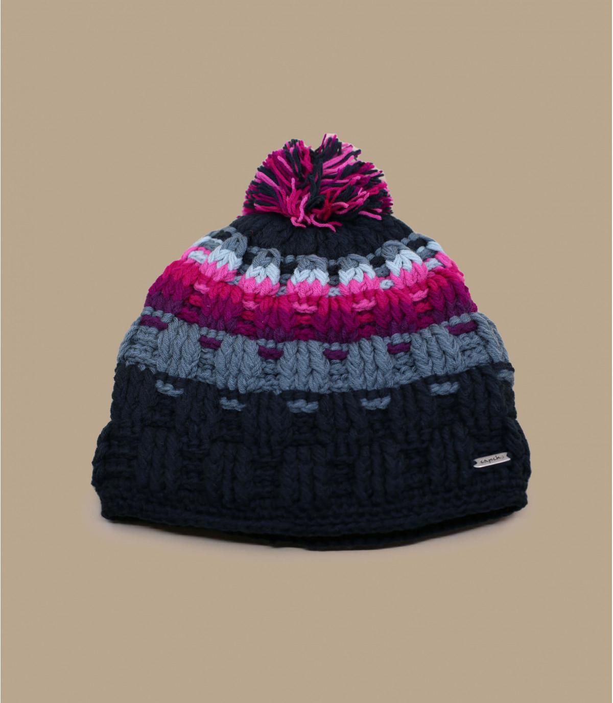 bobble il cappello rosa strisce grigie