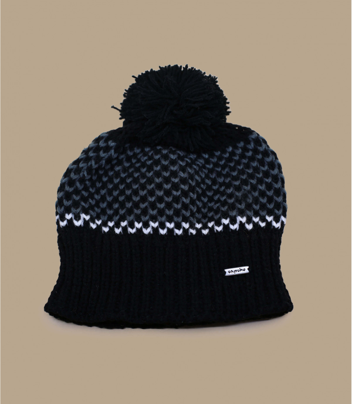 Cappellino con nappina nero Capcho