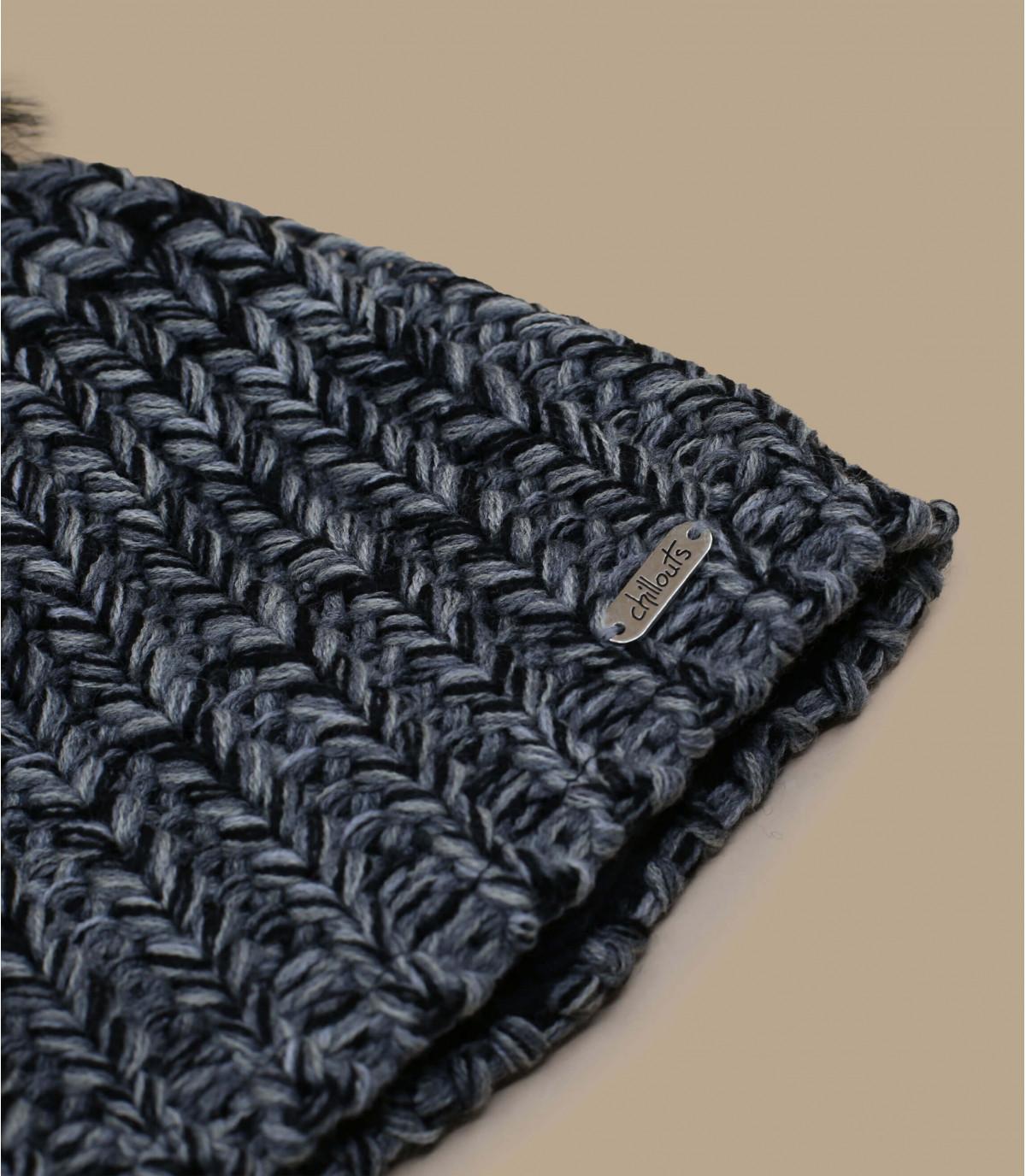 Dettagli Curly hat black grey - image 2