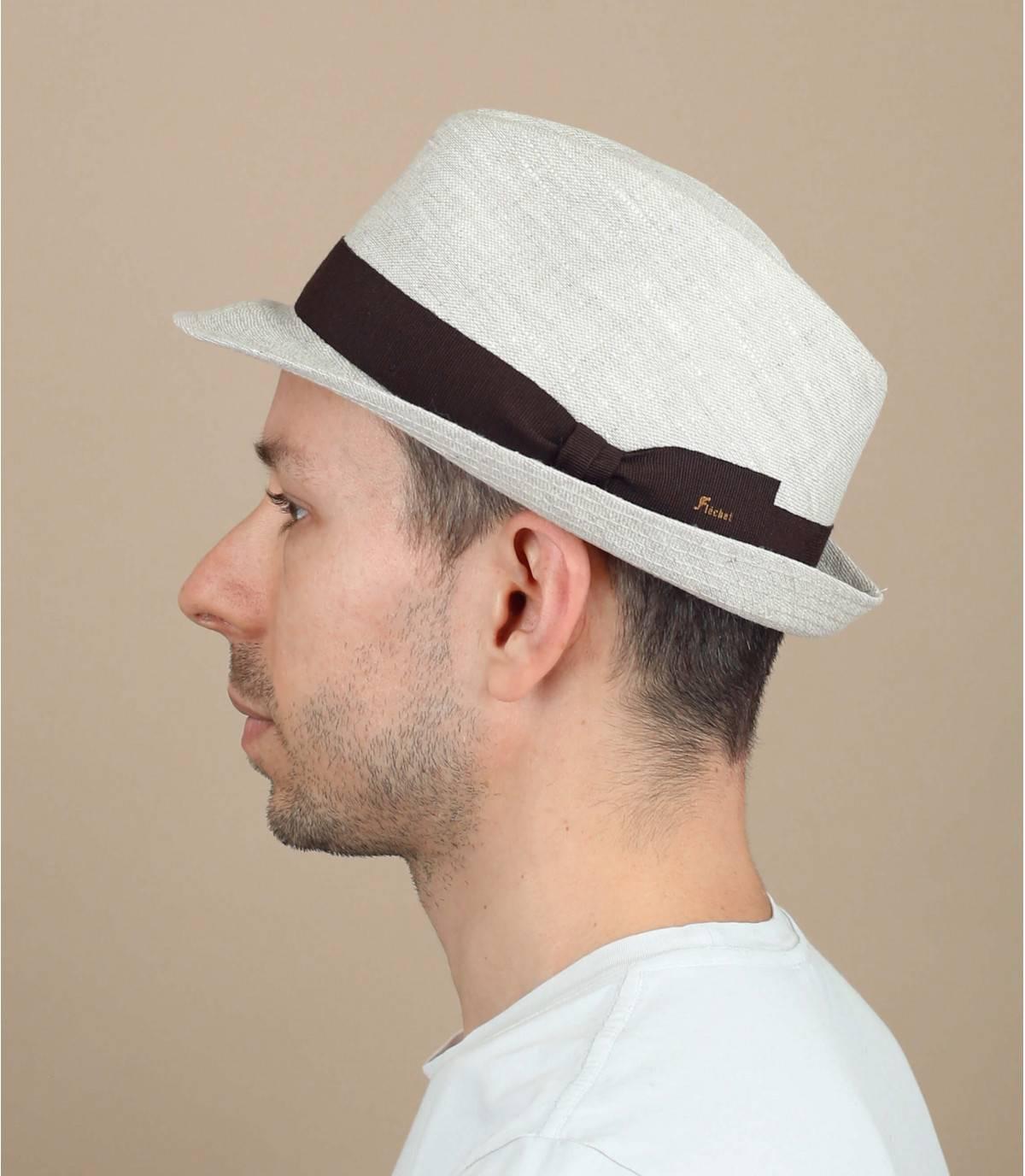 cappello di lino beige Fléchet