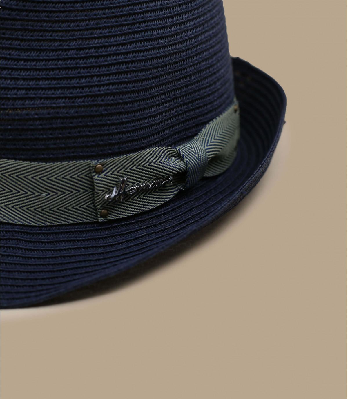 trilby paglia blu navy