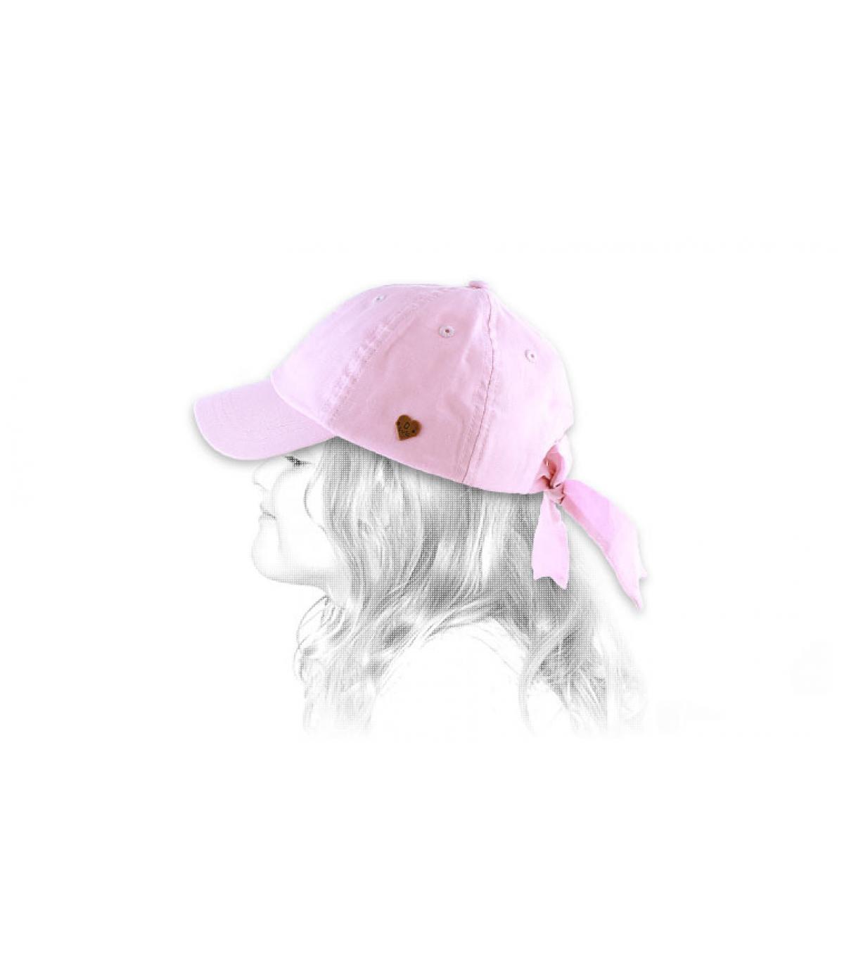 Berretto ragazza rosa fiocco