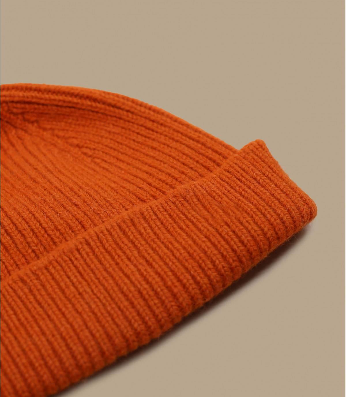 cappello docker arancione lana d'angora