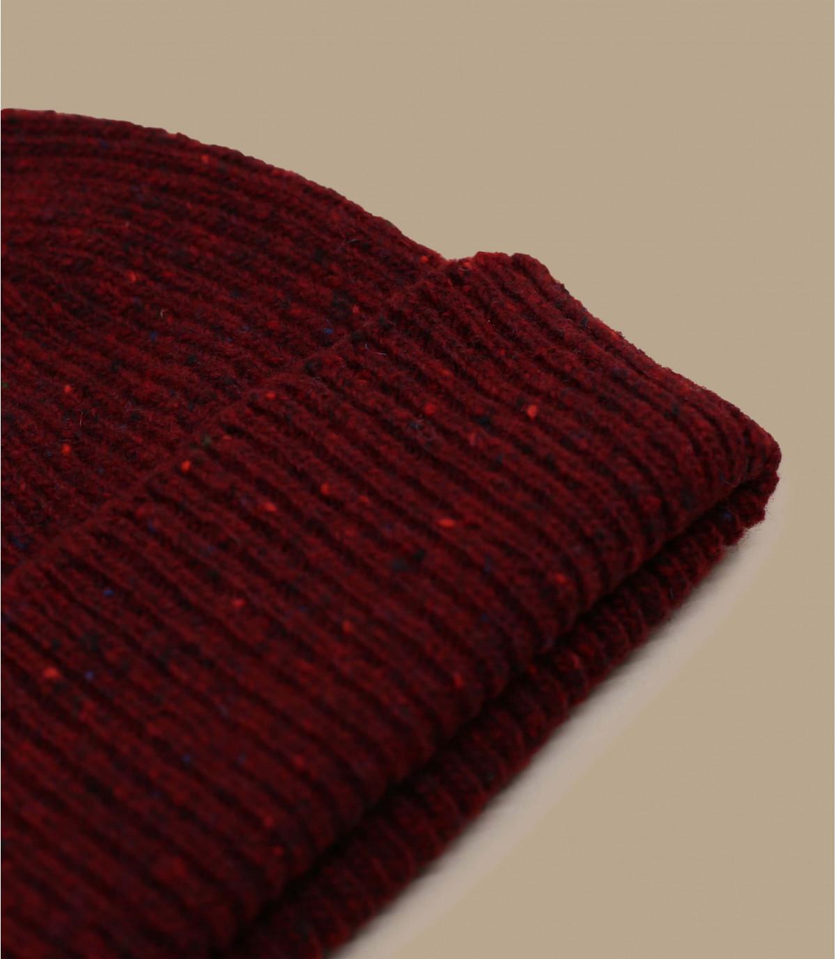cappello docker in lana bordeaux