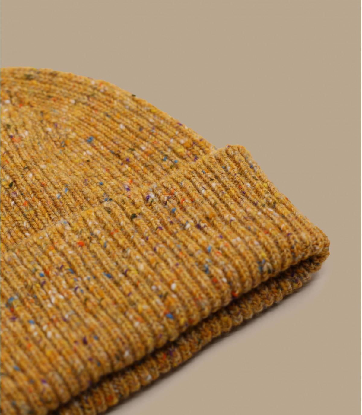berretto marrone lana bavero