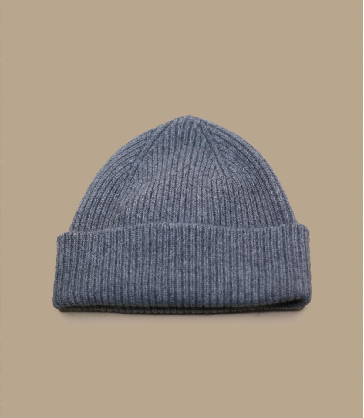 cappello bavero grigio angora